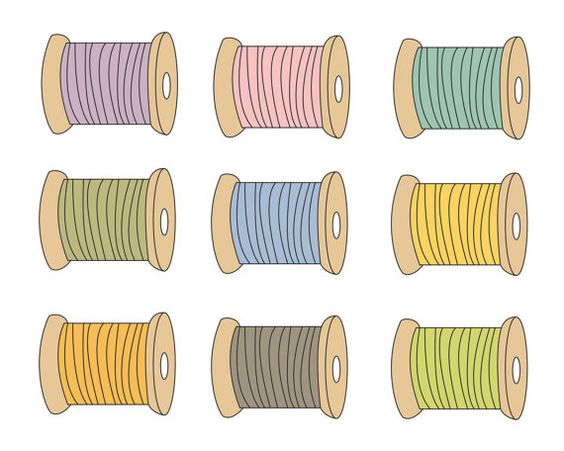 Sewing Thread Clip Art Craft Clipart Crafting Supplies Sewing.