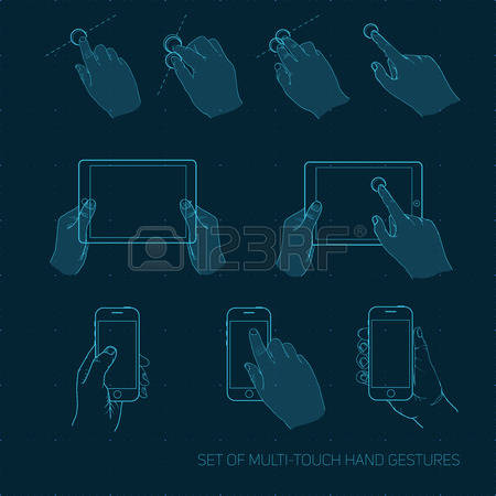 892 Multitouch Stock Vector Illustration And Royalty Free.