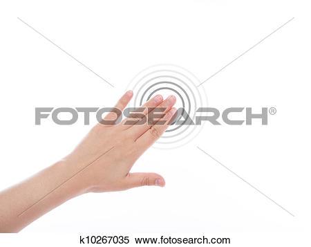 Stock Illustration of Women hand use multi.