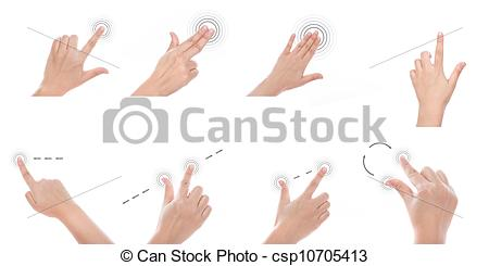 Clipart of Group of Women hand use multi.