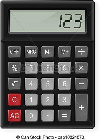 Vectors Illustration of Calculator.