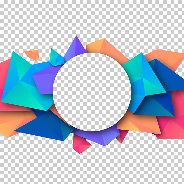 Flyer background, multicolored PNG clipart.