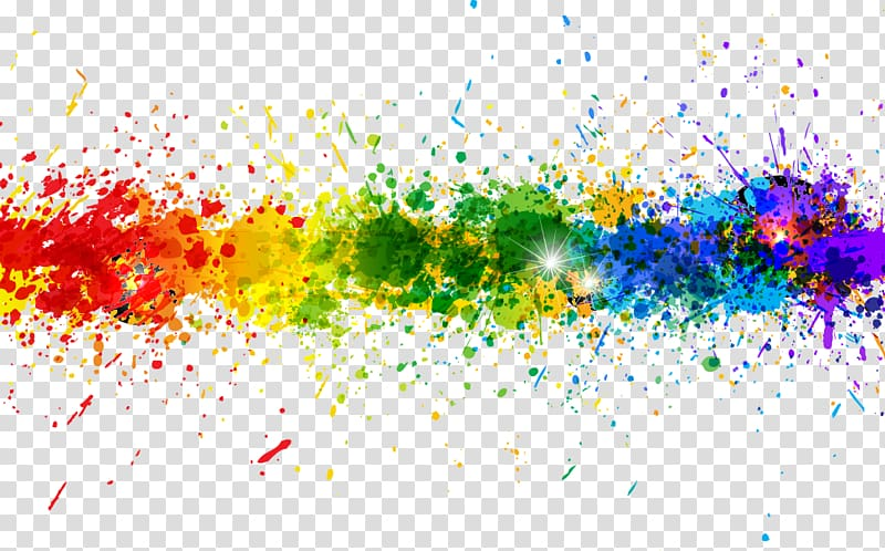 Multicolored paints, Color Graphic design Painting, Colorful.