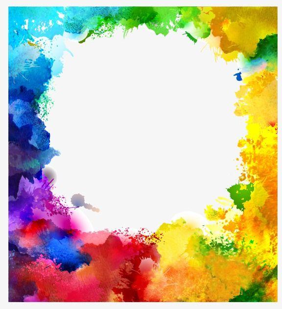 2019 的 Splash Watercolor, Multicolor Background Note.