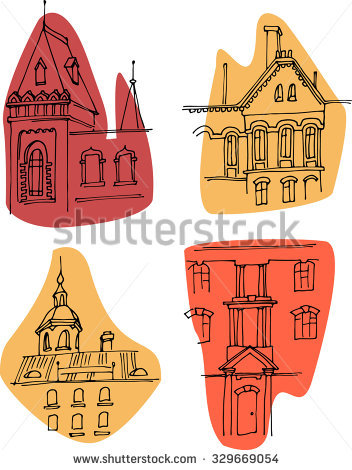 Russian Old House Stock Photos, Royalty.