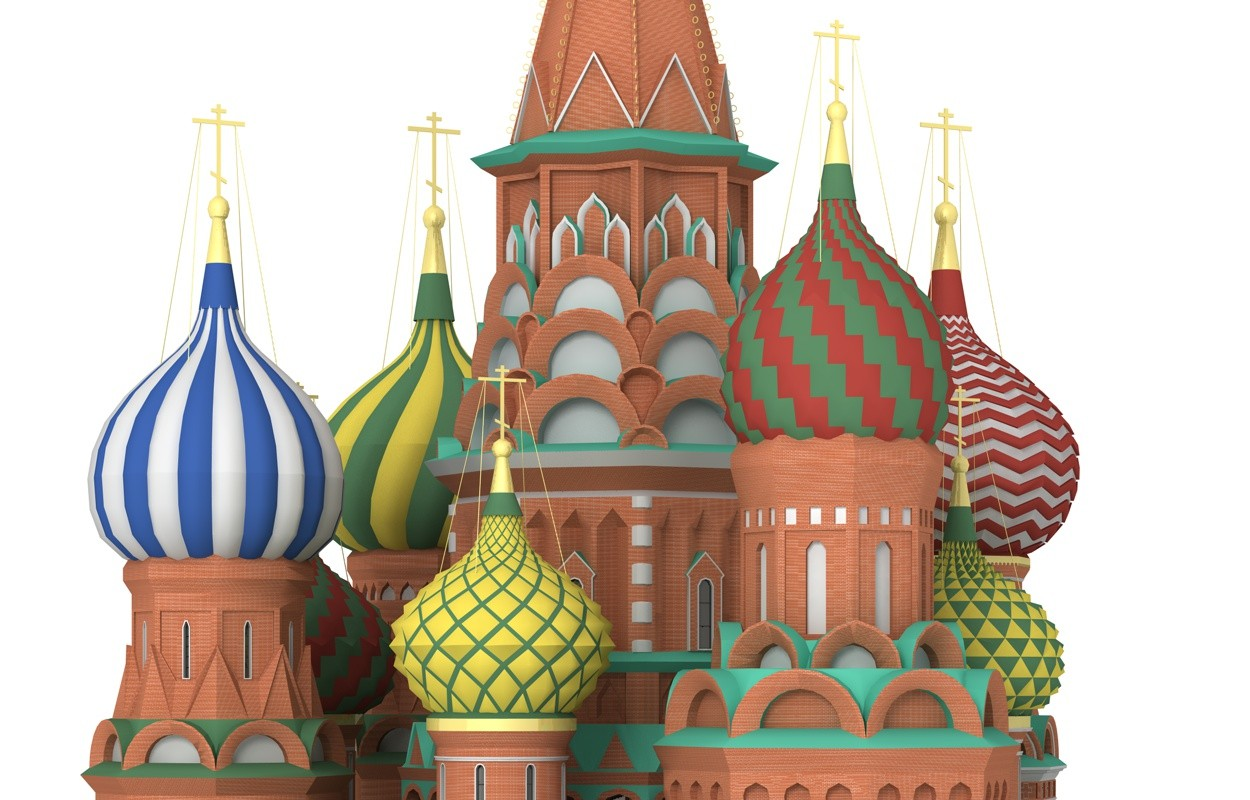 Searched 3d models for Russian Tower (cupola, onion dome) inspired.