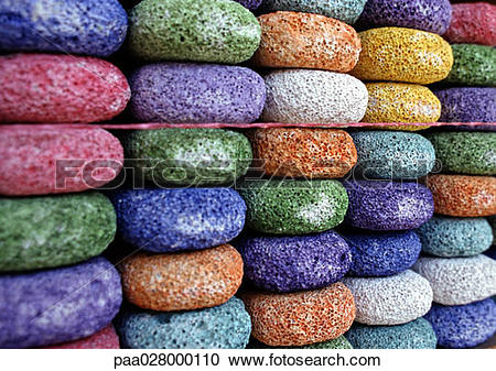Stock Photography of Stacks of round multi.