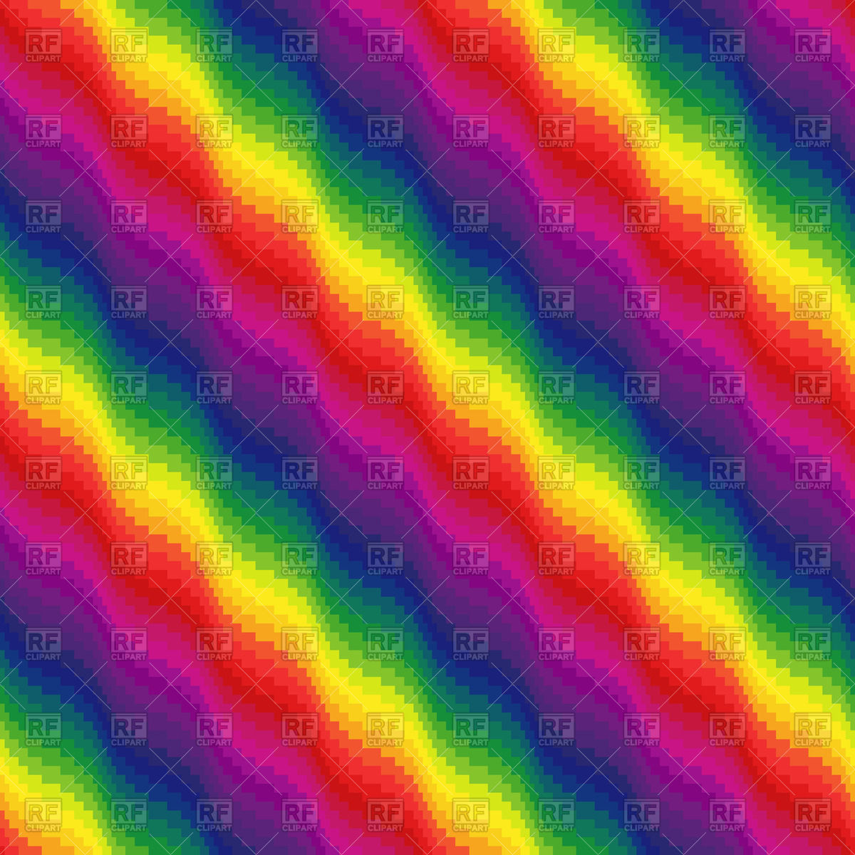 Multicolour wavy seamless rainbow pattern Vector Image #57722.