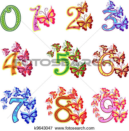 Clip Art of Beautiful multi.