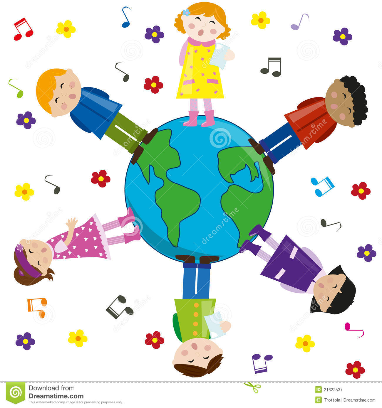 Multicultural Children Clip Art Free.