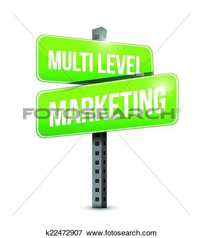 Clip Art of multi level marketing sign k22472907.