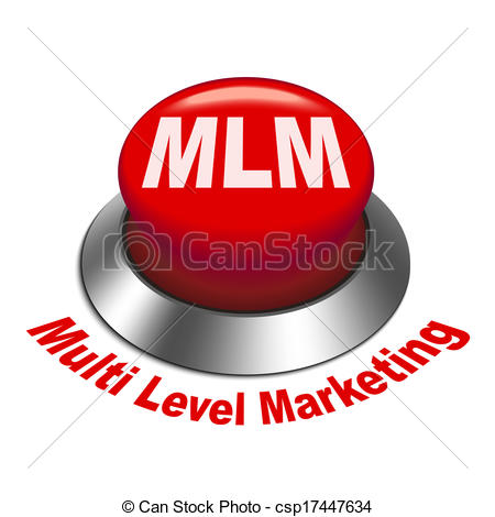 Vectors of 3d illustration of MLM ( Multi Level Marketing) button.