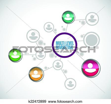 Clip Art of multi level marketing network k22472899.