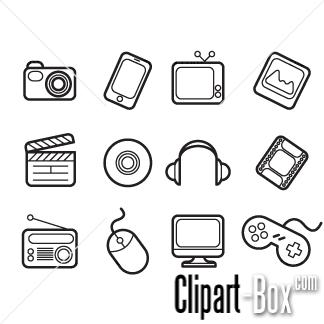 Multimedia Clip Art.
