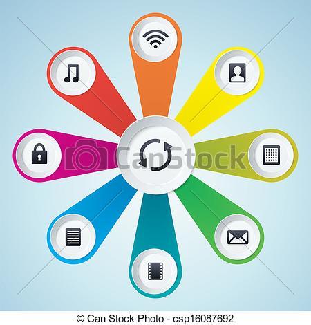 Multimedia cliparts.
