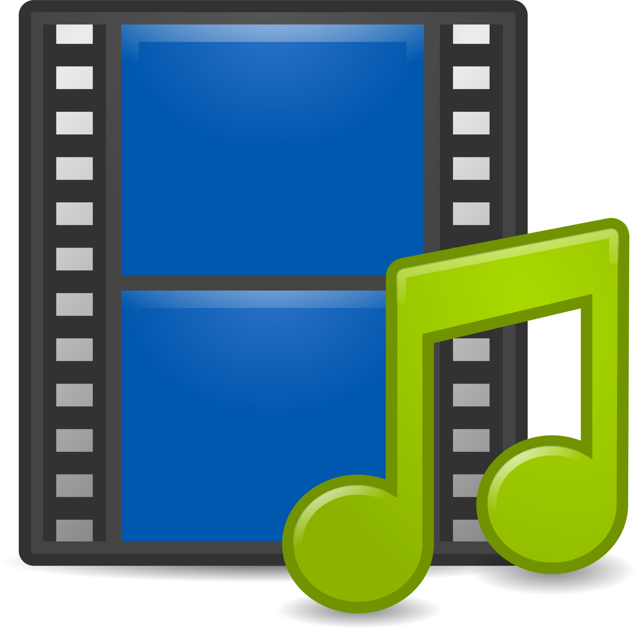 Media player clipart.