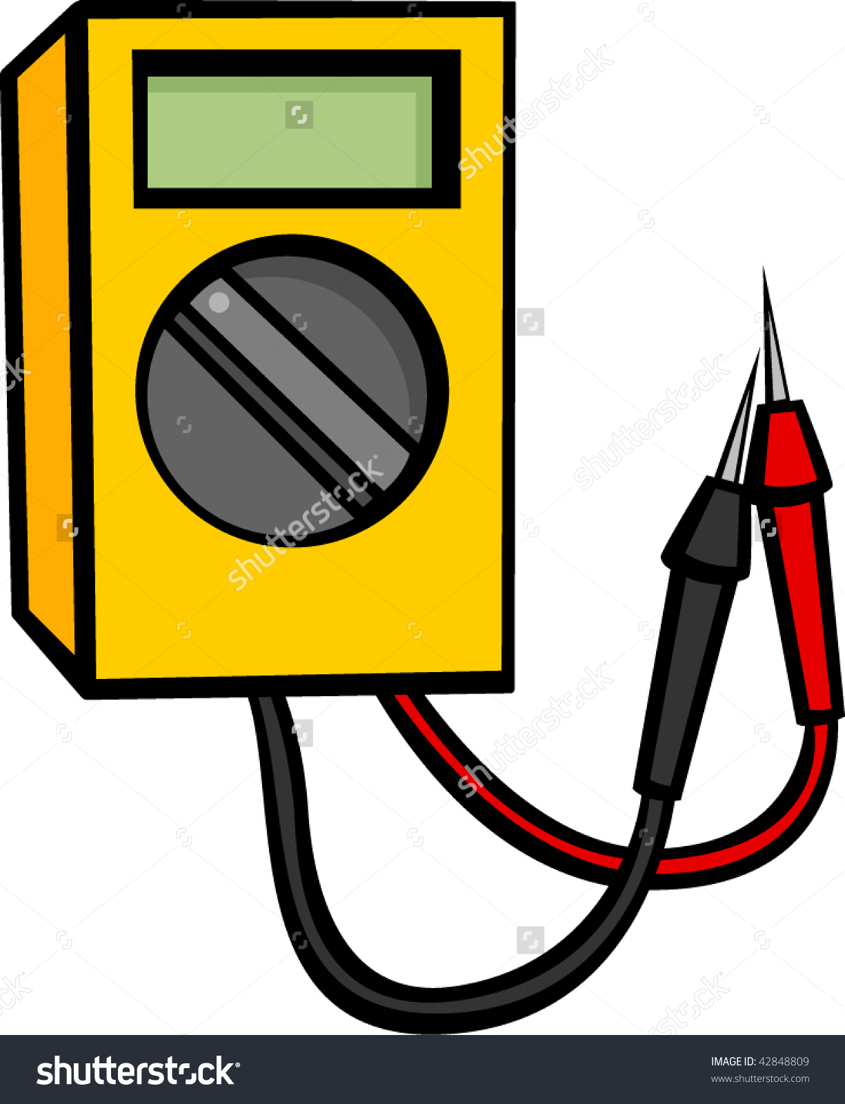 Multimeter Electronics Testing Equipment Stock Vector 42848809.