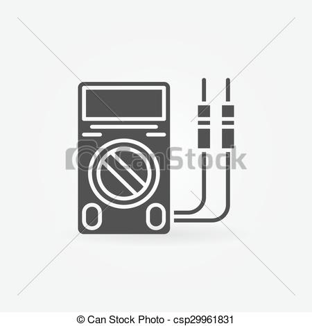 Clip Art Vector of Digital multimeter. Vector illustration.