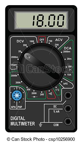 Vector Clipart of Digital multimeter.
