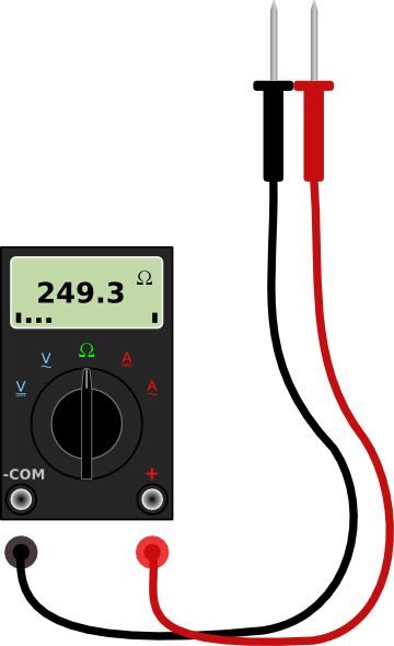 Digital Multimeter With Leads Clip Art at Clker.com.