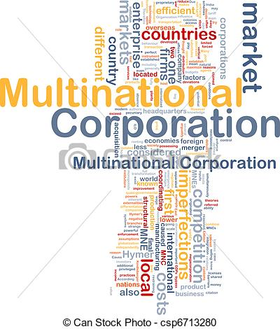 Stock Illustration of Multinational corporation background concept.