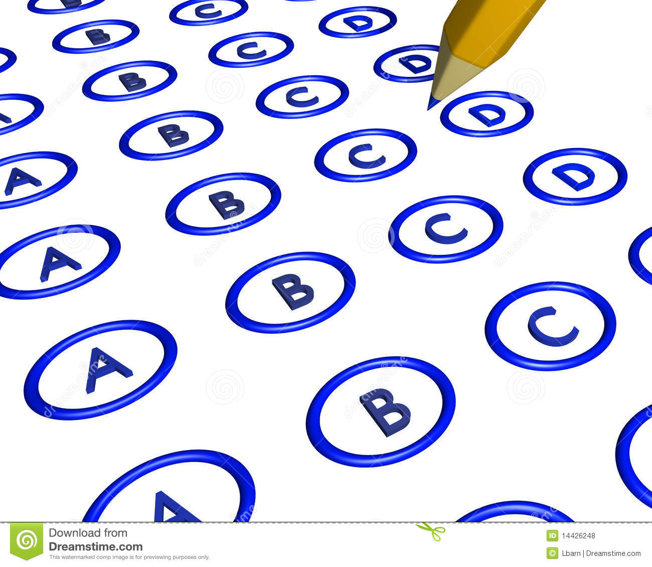 Multiple Choice Bubble Answer Sheet Stock Illustrations.