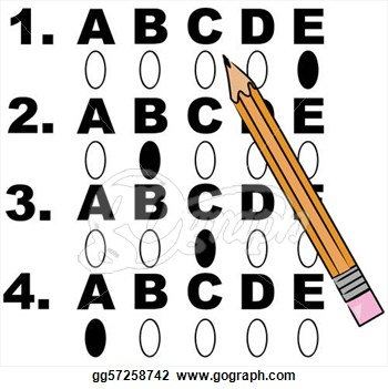 Multiple choice clipart.