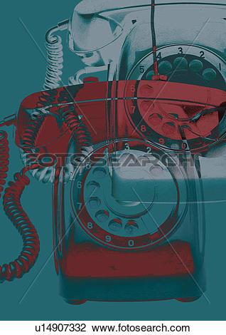 Clip Art of Multiple Exposure, One Object, Illustration u14907332.