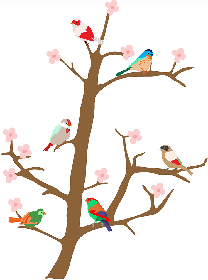 Multiple flowers spring clipart #10