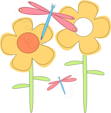 Multiple flowers spring clipart clipground dragonfly clip art mightylinksfo