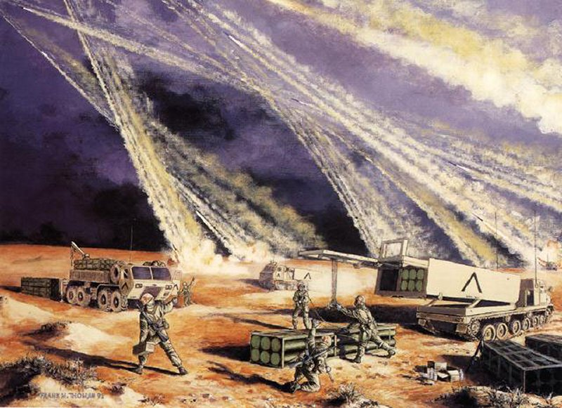 M270 Multiple Launch Rocket System.