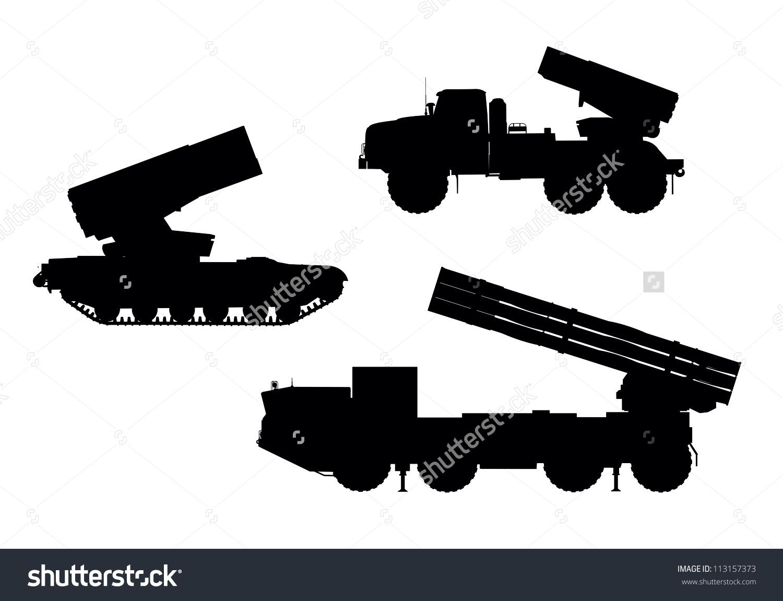 Multiple Launch Rocket System Mlrs Vector Stock Vector 113157373.