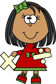 Kids with Multiplication and Division Signs Clip Art.