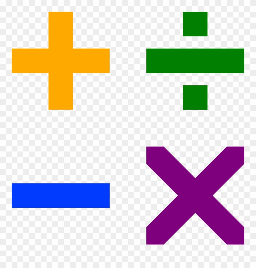 Addition Subtraction Multiplication Division Signs Clipart.