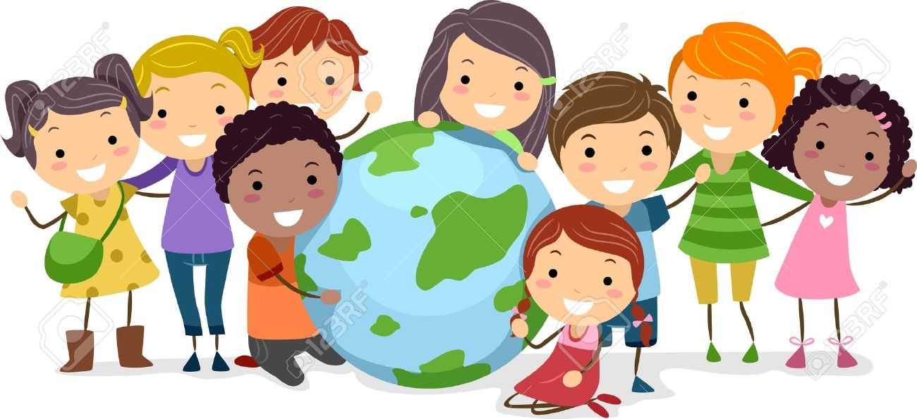Illustration Of Kids Surrounding A Globe Stock Photo, Picture And.