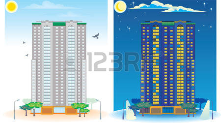 Multistoried Stock Vector Illustration And Royalty Free.