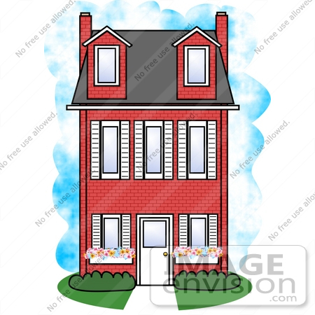 Three Story House Clipart.