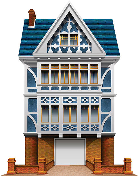 Single Family House Pics Clip Art, Vector Images & Illustrations.