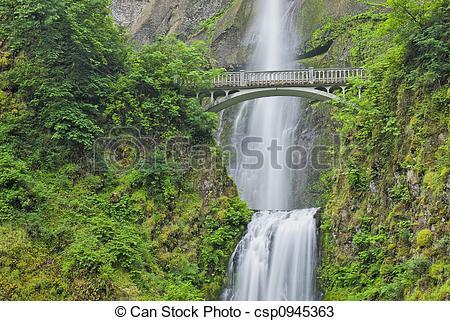 Stock Photos of Multnomah Falls, Oregon.