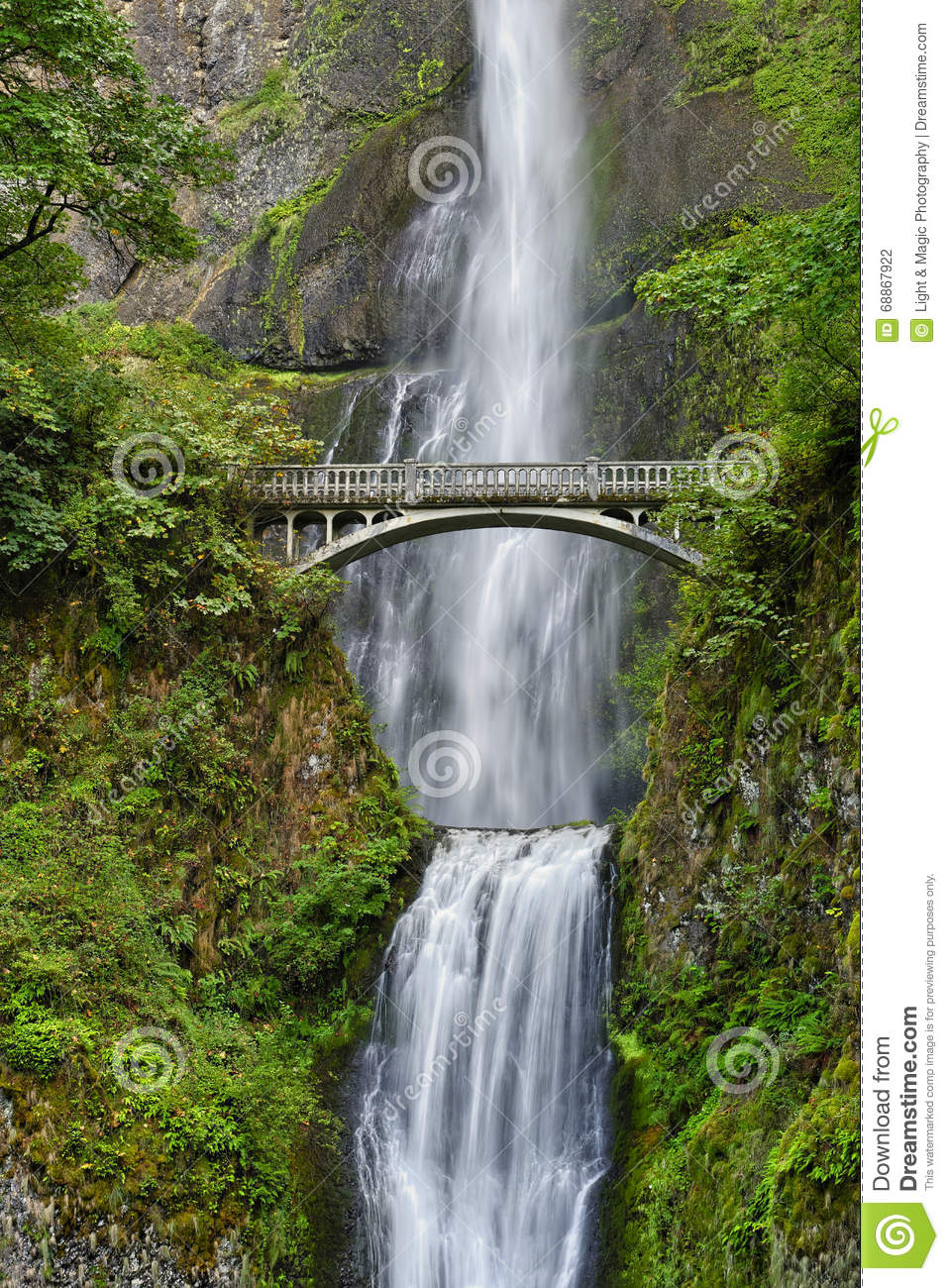 Bridge Over Waterfall Clip Art.
