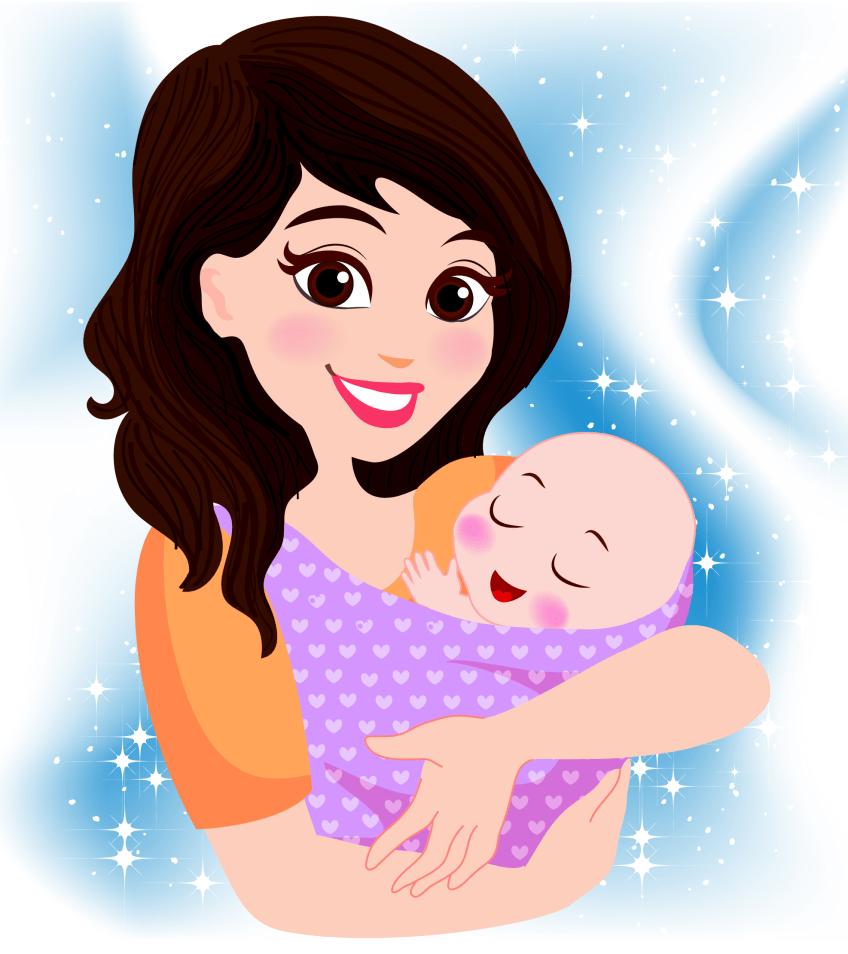 Idyllic baby and mum png.