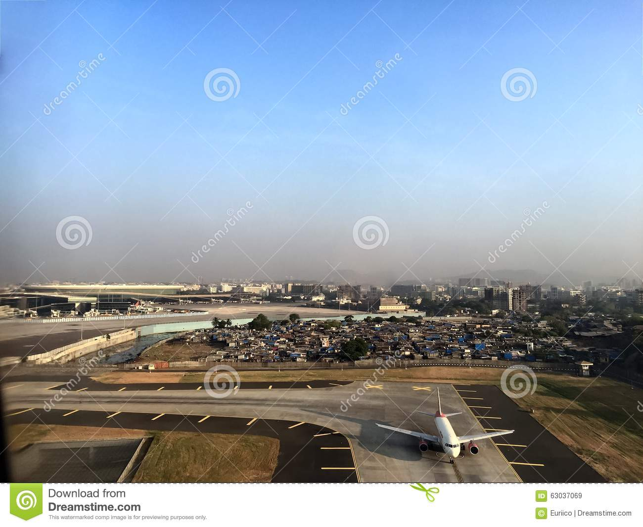 Mumbai Airport Editorial Stock Image.