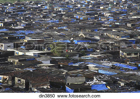 Stock Photography of Slum area near Santacruz Airport ; Vakola.