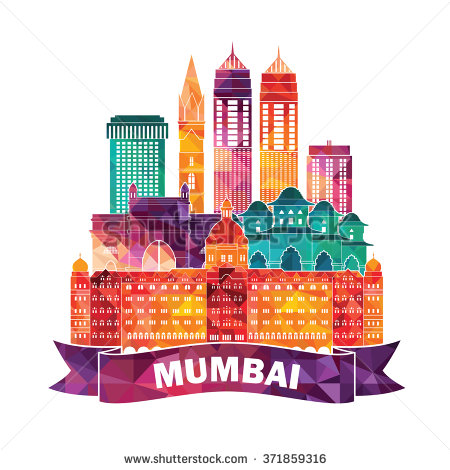 Mumbai silhouette. Vector illustration.