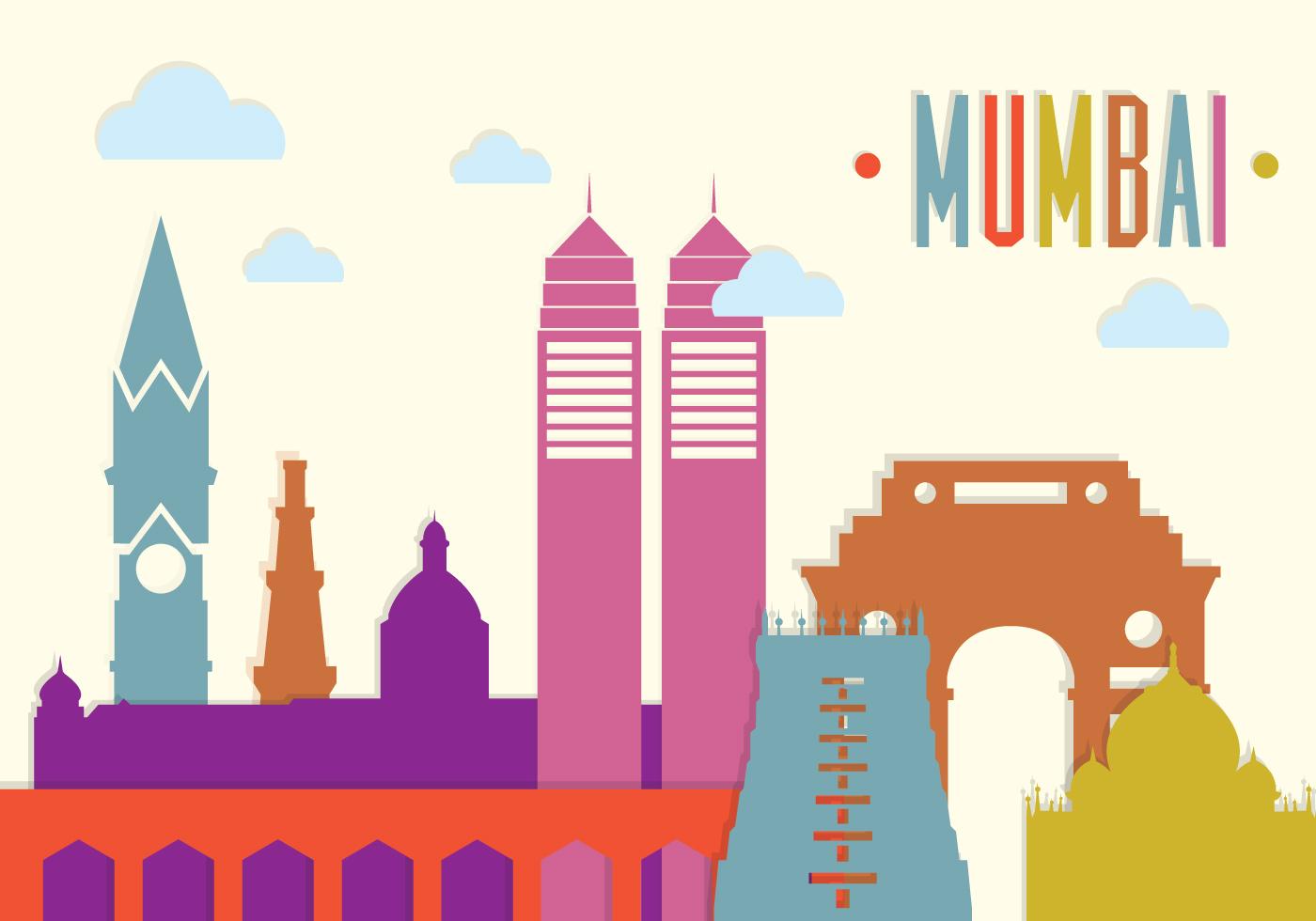 Mumbai Free Vector Art.