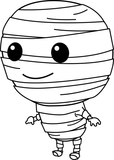 Cute Halloween Mummy Clip Art.