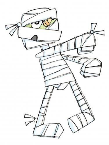 Halloween mummy pictures clipart image.