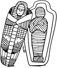 Mummification Clipart.