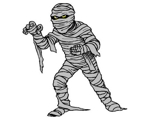 Free mummy clipart public domain halloween clip art image.
