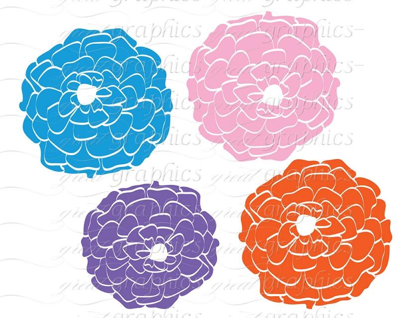 Mum flower clip art.